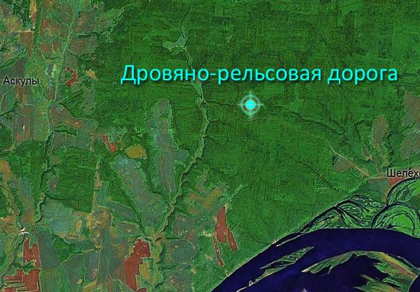 Дровяно-рельсовая дорога — ДРД (урочище Родниковый)
