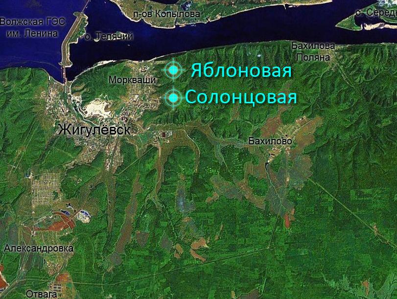Горы к востоку от Морквашей — Лысая, Гумённая, Яблоновая, Двойная, Солонцовая