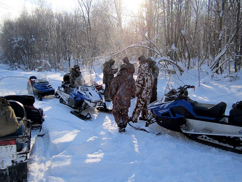 Самарская Лука охрана - снегоходы